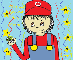 mj as mario by GothicTaco198