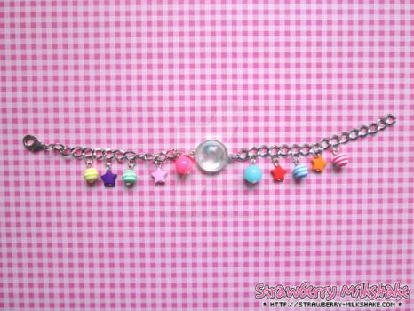 Bracelet: *Playful kitteh* (Cheerful Line) by FiyahKitteh