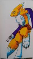 renamon pose by gurudJ