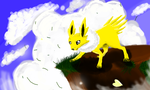 A Mountain Jolteon by Deepluver2