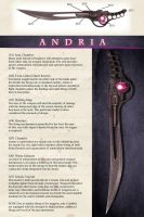 Andria - Vermillion's Weapon by Kharnage