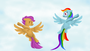 Scoot and Dashie by BellalyseWinchester