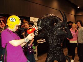 Commander Keen vs Xenomorph by Shilor