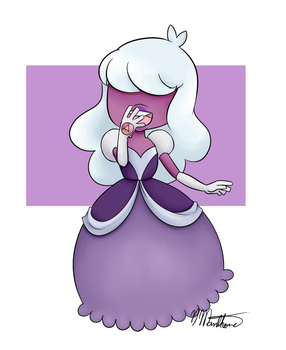 padparadscha and sapphire fusion[COMMISSIONS OPEN] by nikki45e