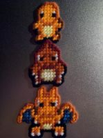 Charmander Evolution Set by AprilMoonshine