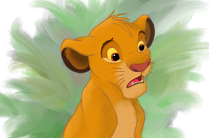 Simba - Lion King by MiekeM