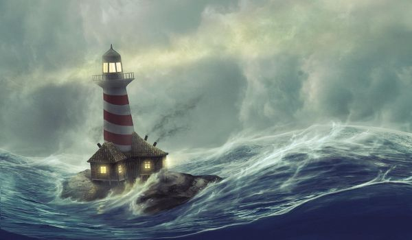 Lighthouse storm by HjalmarWahlin