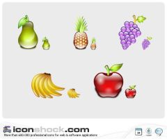 Delicious Fruits Icons by Iconshock