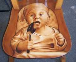Airbrush Baby Chair by MikeLangston