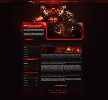 Gaming Layout - Glossy Red by E-moX