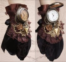 Steampunk watch cuff IV by Pinkabsinthe