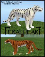 FeralHeart Tiger markings by mejony