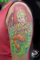 Ganesha by DallierTattoo