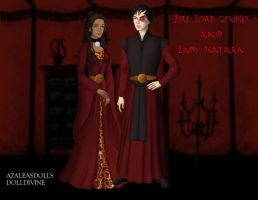 Fire Lord and Lady by KendraKickz0220