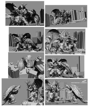zGamera xDestoroyah- composition thumbs by dopepope