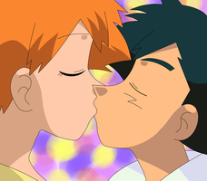 AAML - SatoKasu - PokeShipping kiss by EloTheDreamgirl