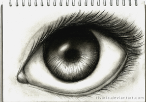 Charcoal Eye by Tivaria