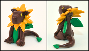Sunflower Dragon by HowManyDragons
