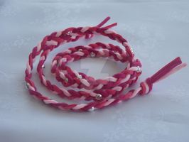 Wraparound suede bracelet pinks by Quested-Creations
