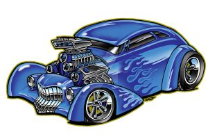 Flaming Blue Hot Rod by Britt8m