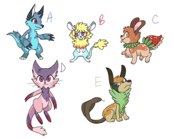 Some furry adopts - Closed by Kankiko