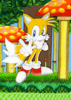 Tails At Mushroom Hill by SWIFT-SONIC