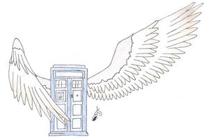 Winged Tardis by Zurhei