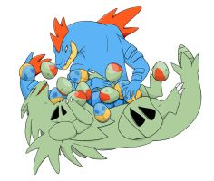 Tyranitar and Feraligatr