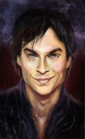 Damon Salvatore by ladunya