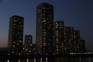 Skyscrapers at Night by keeonso