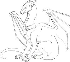 Kitten-Dragon: Lineart by LiquidDragonN