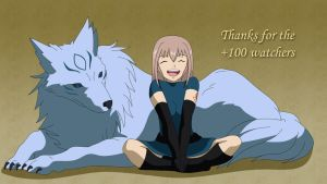 Thanks +100 watchers! by Lightning-roses