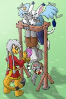 Commish - Upsidedown tickling by Caroos-Dungeon