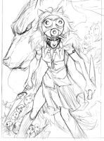 Princess Mononoke, pencils by olivernome