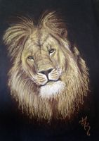 lion drawing by AlexRoivas