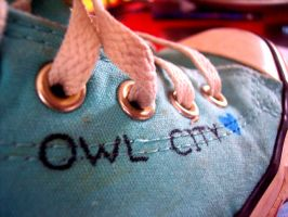 Owl City Shoes :D by CupCakeOwO