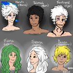Sapphire's Guardians as Humans by SapphireWolf100