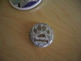 Leave an Imprint Button Pin by mewpearl