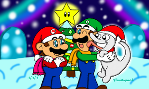 Christmas with Luigi's Polterpup by MarioSimpson1