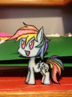 Rainbow Dash the Paper Child by thesubtle