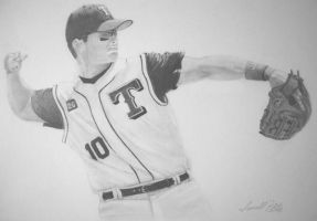 Michael Young by DFitchPencilArt