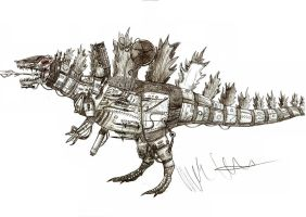 Kaiju revised Mechagodzilla by Teratophoneus