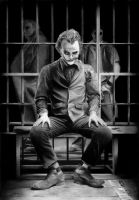Joker (black and white) by Jansen32