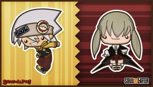 Soul Eater - Soul and Maka by SquidPig