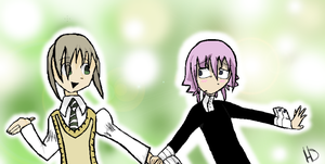 maka and crona by Scarcat101