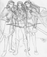Legolas and the Twins by shiryuu
