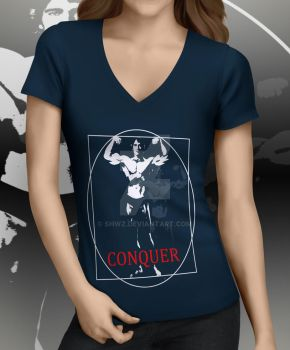 CONQUER T-shirt by SHWZ