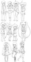 [F2U] Vocaloid lineart pack by Skoryx
