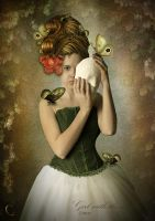 Girl with the mask by CindysArt