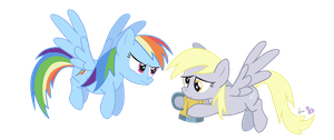 "Dash and Derpy in ""Whose Cider You On?"" by dm29"